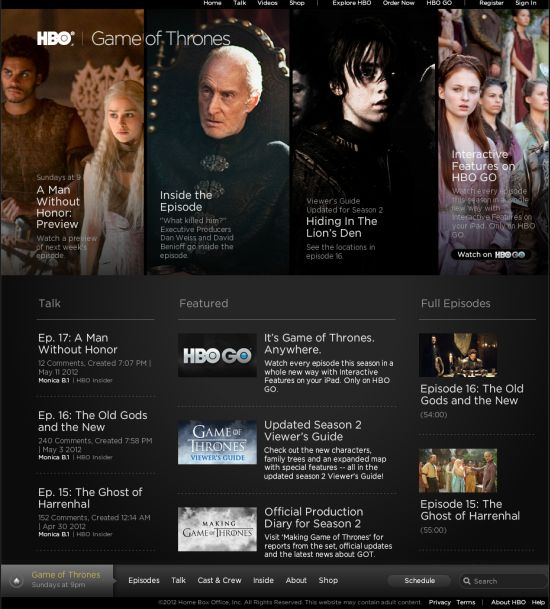 Screenshot HBO.com